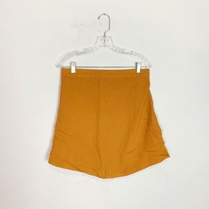 Urban Outfitters linen blend skirt burnt orange S